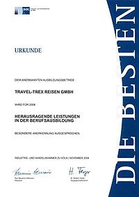Urkunde Berufsausbildung 2008