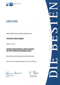 Urkunde Berufsausbildung 2011