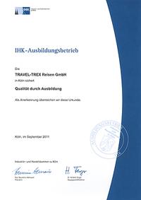Urkunde Sicherung der Qualität durch Ausbildung 2011